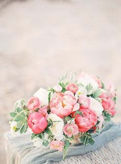 Pink peony and ranunculus florals