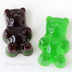 Homemade giant gummy bears are easy to make and look so cool.