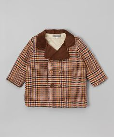 This Brown Houndstooth Tweed Peacoat - Infant & Toddler is perfect! #zulilyfinds