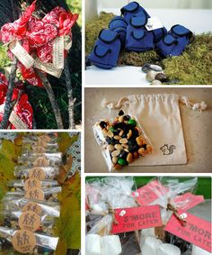 Modern Country Designs: Backyard Camping Party Ideas party favors, camp parti, treat bag, birthday parties, country design, birthdays, backyard camping, camping birthday, parti idea