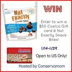 $50 Costco Gift Card + Nut Exactly Prize Pack Giveaway! (ends 1/29)