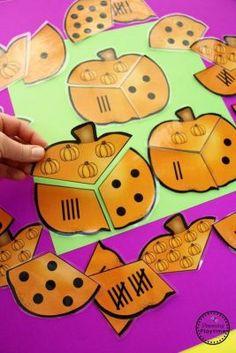 Pumpkin Preschool Activities - Pumpkin Counting Puzzles - Preschool Activities for October science for preschoolers preschool activities preschool crafts kindergarten. Christmas Bazaar Crafts, Holiday Crafts For Kids, Fall Crafts, Kids Crafts, Fall Preschool, Preschool Math, Math Activities, Halloween Preschool Activities, Counting Puzzles