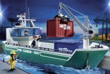 playmobil cargo ship