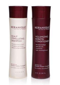 Scalp Stimulating Shampoo, 8 fl. oz.; Volumizing ceratin Conditioner, 8 fl. oz. Set Contains: Scalp Stimulating Shampoo, 8 fl. oz.; Volumizing ceratin Conditioner, 8 fl. oz.