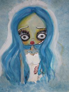 https://www.facebook.com/pages/Beatriz-Fatima-Art/693592707397277?fref=nf watercolor, sposa cadavere, acquarello, corpse bride, tim burton, illustration, celeste