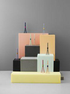 Beater Whisk For Normann Copenhagen Display Design, Bar Design, Visual Display, Booth Design, Store Design, Design Ideas, Vitrine Design, Perfume Display, Bookshelves Built In