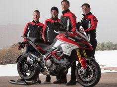 To celebrate the anniversary of Pikes Peak International Hill Climb, Ducati unveiled limited edition Multistrada 1200 Pikes Peak. Ducati 1200s, Ducati Classic, Ducati Multistrada 1200, Pikes Peak, Super Bikes, Motogp, Cars And Motorcycles, Motorbikes, Yamaha