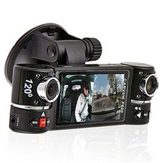 """2.7"""" 16:9 HD display, dual-lens can rotate by 120 degree * Unique and intimate design combining the wide-angle lens and telephoto lens, so it is no longer just a simple decoration and the increase of camera angle * The machine can automatically detect and start the video when the vehicle starts, and support the video-recording while charging * Built-in Lithium-ion rechargeable battery - Car charger included! * (Placed within the Amazon Associates program) * 09:45 Mar 18 2017"""