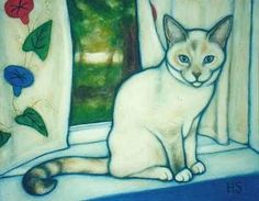 Pearl (Painting) by Heidi Shaulis Sold on ebay.