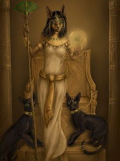 Bastet or Alien Lyran (Lyrian) Cat People Bastet Goddess, Egyptian Cat Goddess, Egyptian Cats, Egyptian Mythology, Goddess Art, Egyptian Cat Tattoos, Egypt Art, Black Women Art, Gods And Goddesses