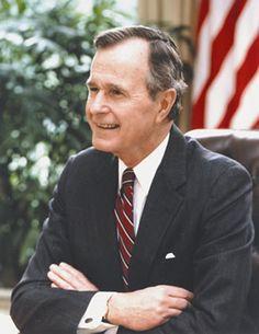 President George H.W. Bush, 41st President of the U.S.  1989-1993