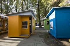 College students at Emily Carr University built these tiny houses to house homeless people.