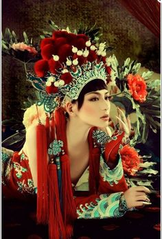 traditional chinese wedding headpiece - something different