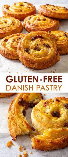Gluten Free Danish Recipe, Gluten Free Puff Pastry, Puff Pastry Recipes, Best Gluten Free Desserts, Gluten Free Recipes For Breakfast, Healthy Dessert Recipes, Free Breakfast, Dairy Free Cheesecake, Raw Cheesecake