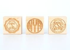 sweet custom monogram and return address stamps