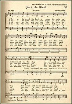 Little Birdie Blessings : Scripture Thursday Linky Party ~ Joy to the World Christmas Lyrics, Christmas Sheet Music, Christmas Carol, Xmas Songs, Christmas Playlist, Vive Le Vent, Sheet Music Crafts, Church Songs, Christian Songs