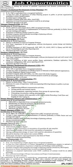 Managers, & Software Developers Jobs In Pakistan