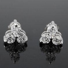1.50ct VVS1 Round Cut Diamond Stud Earrings with Screw Back For Women's #Affinityjewelry #StudEarrings