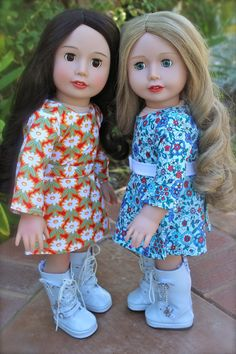 www.harmonyclubdolls.com Our 18 inch dolls, Melody Rose and Cadence Rose are the same size as American Girl Dolls. Visit them and their elaborate and Trendy fashion that fits American Girl Dolls at www.harmonyclubdolls.com