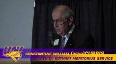 Dr. Constantine William (Deno) Curris – Dr. Jitu Kothari Meritorious Service Award Dr. Constantine William (Deno) Curris was the seventh president at the Uni...