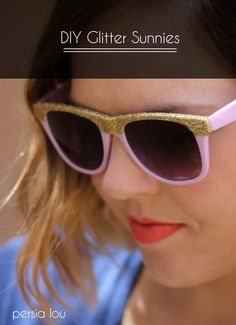 DIY Glitter Sunglasses Tutorial