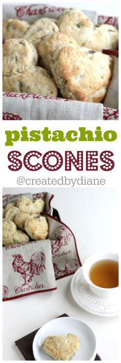 pistachio scones from @createdbydiane