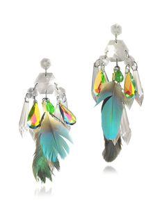 Boucles d'oreilles en argent avec cristaux Anabela Chan prix promo Forzieri 462,00 € TTC