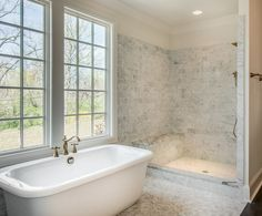 love the stand alone tub master bath vintage south development - Stand Alone Tub