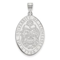 Sterling Silver LogoArt University of Tennessee Large Crest