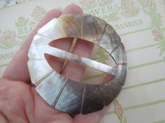 Antique Mother of Pearl Buckle by LemonIceBoxPie on Etsy, $16.50