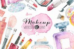 Makeup & Cosmetics clipart by OctopusArtis on Creative Market