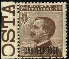 Aegean Islands Castellrosso 1922, Soprastampati, 9 valori, alti valori firm. Caffaz (S. 1-9 / U. 1-9)  Lot condition **  Dealer Briefmarken Monster  Auction Starting Pr...