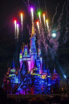 of Fireworks Friday. Once Upon A Time Disney Fireworks, Disney Magic Kingdom, Cinderella Castle, Going On A Trip, Disney Pictures, Disney Parks, Wonders Of The World, Disneyland, Travel