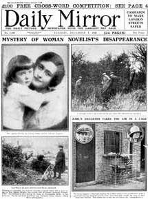 Agatha Christie famous disappearance of December 3, 1926...
