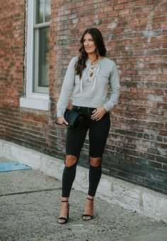 Stylish Ways To Wear A Lace-Up Top