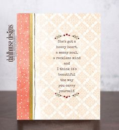 dahlhouse designs | card by design team member lisa arana | stamps by @unityangela