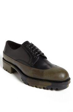 Prada Camo Overlay Derby Shoe.