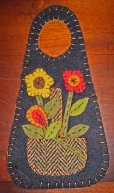 Image detail for -INSTANT DOWNLOAD E PATTERN PENNY RUG DOOR KNOB HANGER Flower Basket