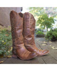 Lucchese Women's Avery Grommet Boot - Tan