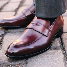 The Stewart penny loafer. Step up your shoe game.