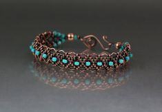 Copper Woven Bracelet Tutorial -- If I were good at wirework, I would so do this!
