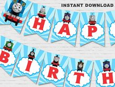 Thomas The Train Banner // Thomas The by BabyCollarPrintables