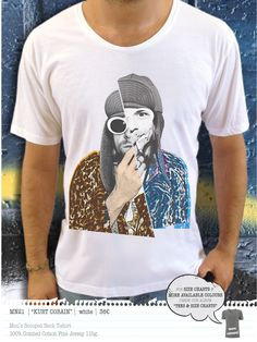KURT COBAIN Men's t-shirt Concept Clothing, Kurt Cobain, Size Chart, Colours, Store, Mens Tops, T Shirt, Clothes, Design
