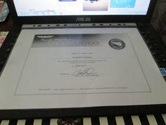Il certificato datato 23 aprile 2016 che attesta che ho completato il corso teorico per la Private Pilot License...