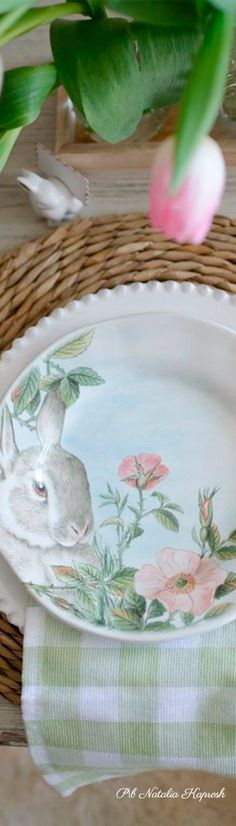 Elegant Dinner Party, Easter Table Settings, Hoppy Easter, Hello Spring, You're Awesome, Love And Light, Pie Dish, Spring Time, Decorating Your Home