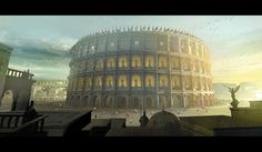 The Colosseum of Rome by Miguel Coimbra Fantasy World, Fantasy Art, Rpg World, The Vampire Chronicles, Rome Tours, Roman City, Greek Culture, Arquitetura, Tatoo