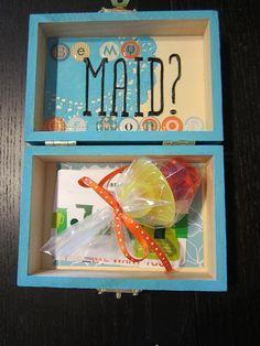 Maid of Honor goody box!  Neat idea