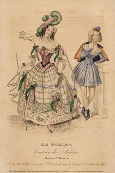 Theatre costumes, 1838, Le Follet