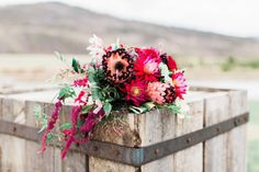bright pink and red floral bouquet - strawberry creek ranch wedding Bright Pink, Pink And Green, Floral Bouquets, Floral Wreath, Designer Engagement Rings, Unique Rings, Ring Designs, Wedding Stuff, Ranch