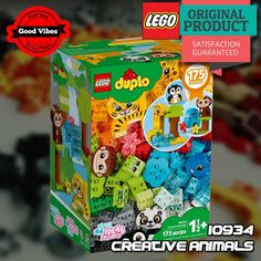 LEGO 10934 Creative Animals DUPLO Mainan Edukasi Anak Hewan Original #thekingbricks #theking #thekingid #kingbricks #gvonline #uhappyihappy #tokolegoterpercaya #tokomainanoriginal #lego10934 Lego Duplo Sets, Lego City, Lego Star Wars, Avengers, Creative, Animals, Animales, Animaux, The Avengers